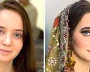 20+ gyönyörű menyasszony átalakulása az esküvői sminkje előtt és után