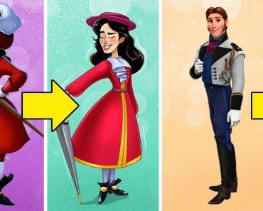 Hogyan nézne ki 13 gonosz férfi Disney-karakter, ha az ellenkező neműek lennének