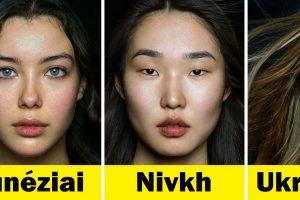 Egy fotós közeli fényképeket készít különböző etnikai csoportokból származó nőkről, hogy megmutassa a nemzetek egyedi szépségét