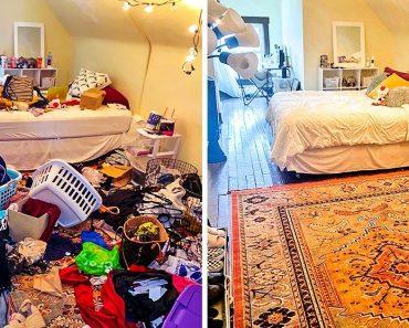 17 előtte és utána kép, amely megmutatja a takarítás varázserejét