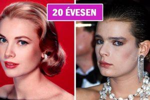 20 egymás melletti fotó hollywoodi sztárokról és gyermekeikről, azonos korukban