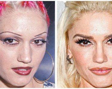 17 sztár előtte és utána fényképe, ami bebizonyítja, hogy a szemöldök teljesen megváltoztatja az arcunkat
