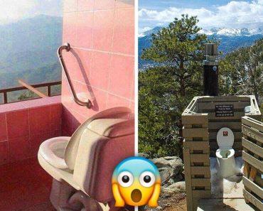 14 extravagáns WC, amely nagyszerű kilátást nyújt a magánéletre