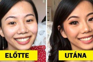 15 előtte és utána kép, ami bebizonyítja, hogy a jó smink csodákra képes