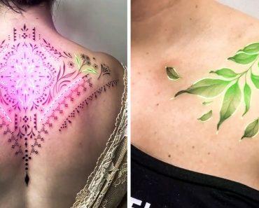 Egy művész animált tetoválásokat készít neonfényekkel, és ez igazán innovatív testművészet