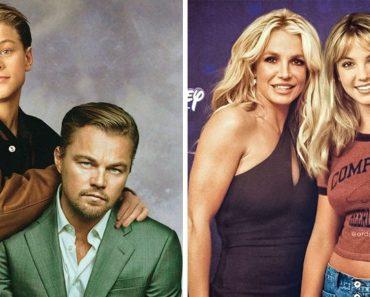 Egy művész által valósággá válik az időutazás úgy, hogy hírességeket photoshoppolt fiatalabb énjük mellé